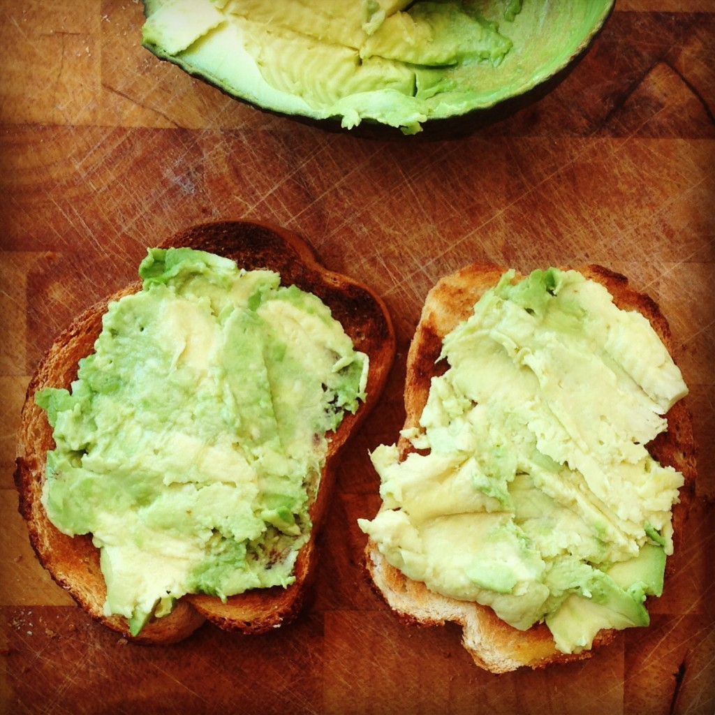 Avocado on wholemeal toast