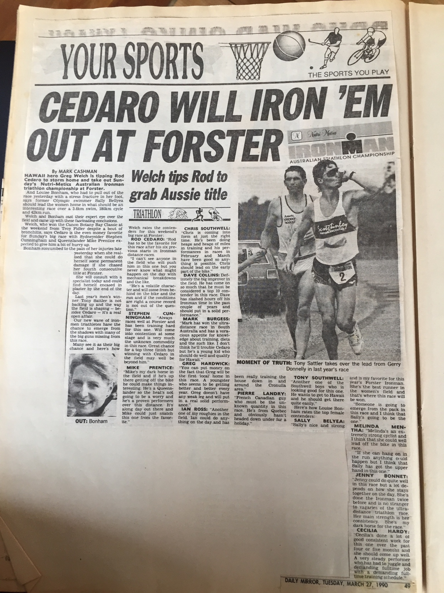 Rod Cedaro 1990 triathlon